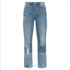 7 For All Mankind Edie Crop Straight 27